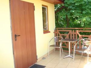 Pokój nr 5 drzwi wejściowe i taras